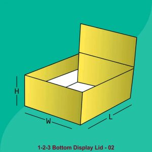 1 2 3 Bottom Display Lid Boxes