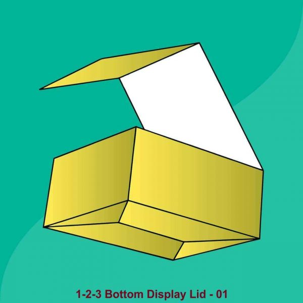 1 2 3 Bottom Display Lid Boxes