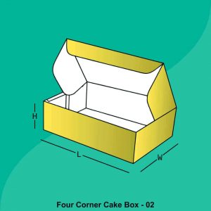 Custom Four Corner Cake Boxes
