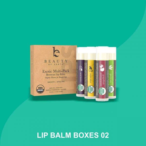 lip balm Box with logo
