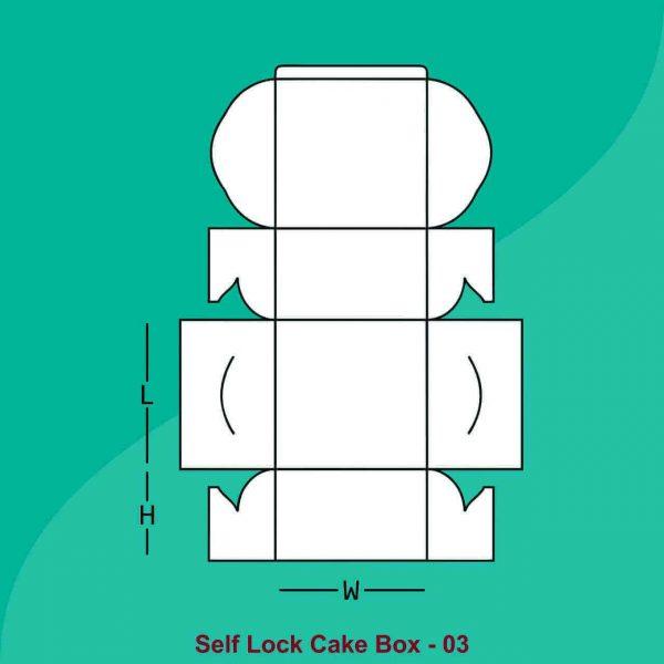 Self Locking Cake Boxes
