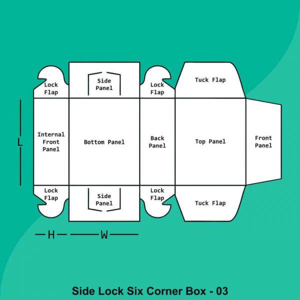 Side Lock Six Corner Boxes