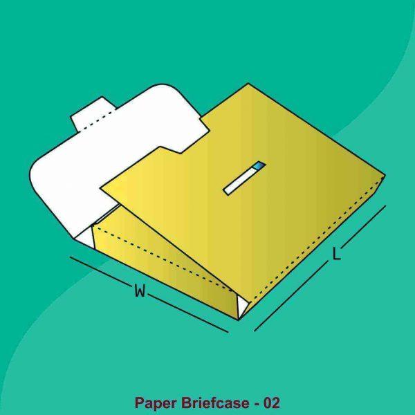 Custom Paper Briefcase